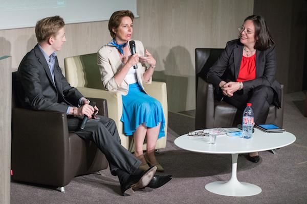 De gauche à droite : Pierre Boullier, Cécile Dejoux et Karine Boullier